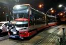 Nehoda tramvaje a osobního automobilu na pražském Barrandově