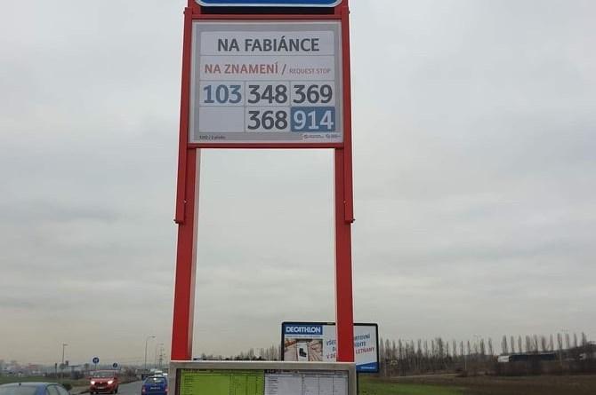 V PID přibyla další nové zastávka, tentokrát v Březiněvsi