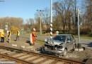 U Velké Bystřice došlo ráno ke střetu osobního automobilu s vlakem