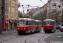 Přerušení provozu tramvají v části křižovatky u vozovny Strašnice