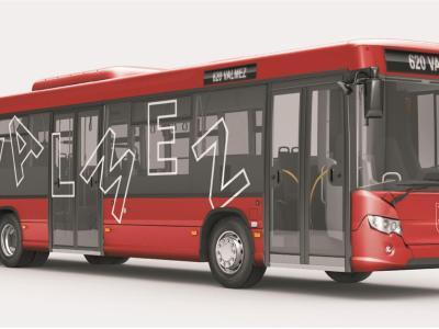 Vizualizace autobusů TQM pro Valašské Meziříčí.