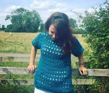 Easy fillet crochet jumper pattern