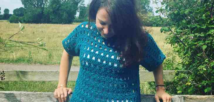 Easy fillet crochet jumper pattern