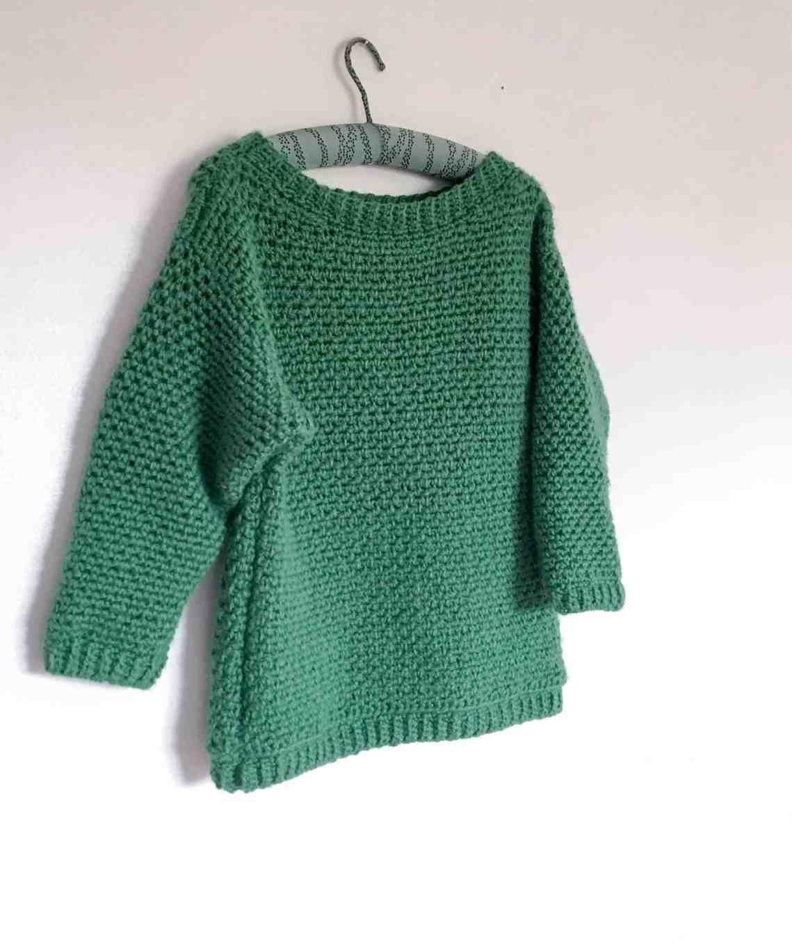 The Upsidedown Crochet Sweater Pattern from Doradoes.co.uk