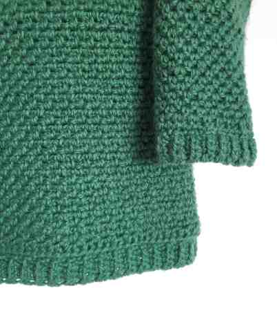 Upsidedown crochet sweater 7