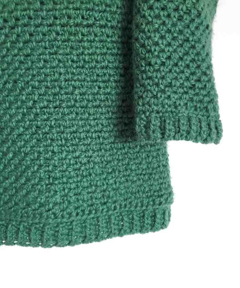 Upsidedown crochet sweater 7