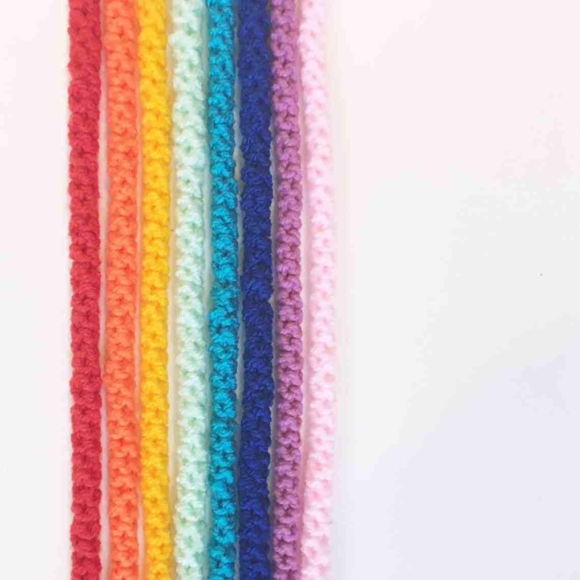 crochet cord tutorial bright rainbow colours