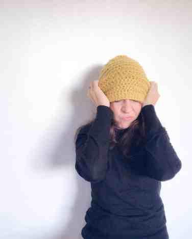 Crochet Beehive Beanie hat pattern from doradoes.co.uk