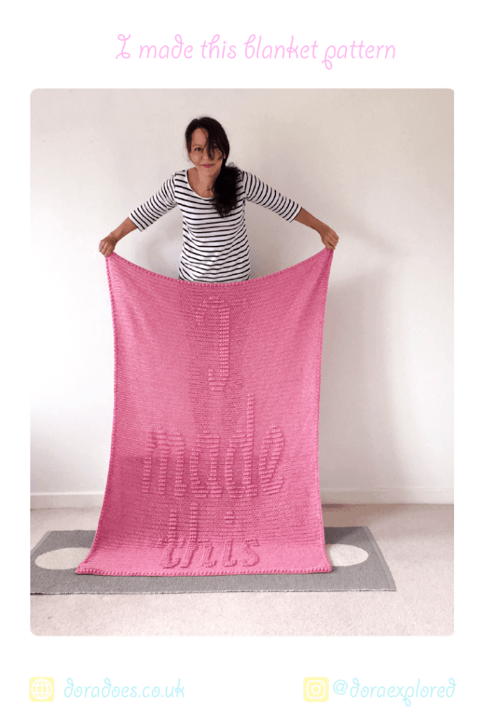 I Made this crochet blanket