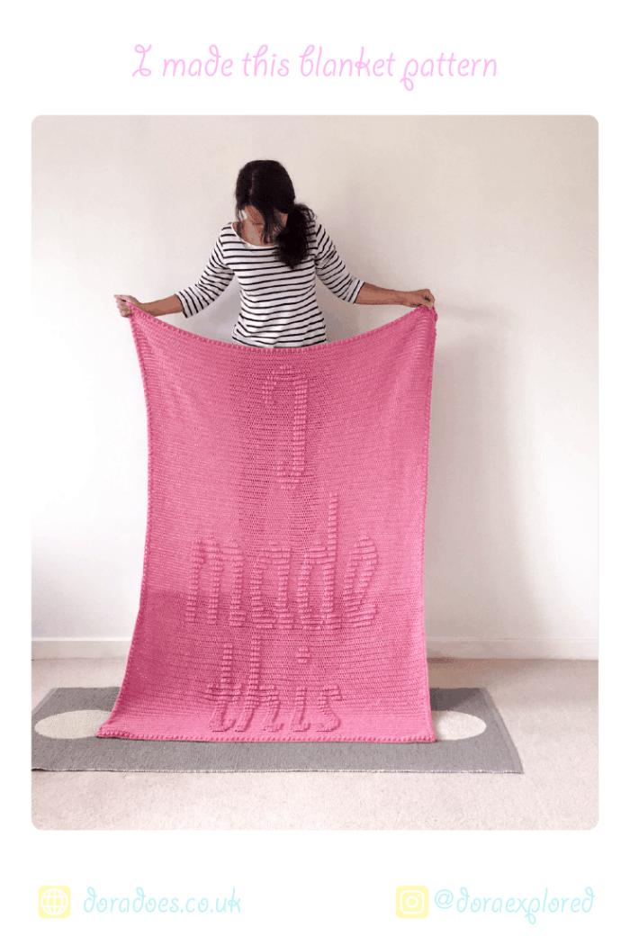 Crochet Blanket Pattern for makers from Dora Does