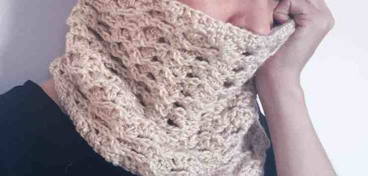 crochet cowl textured free pattern chunky lion brand