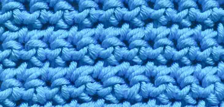 US single crochet, UK double Crochet stitch swatch