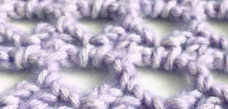 Crochet beehive stitch pattern in lilac