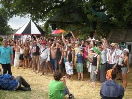 ostriches for no reason at secret garden party