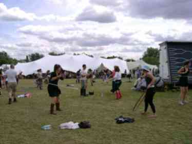 hula hooping at secret garden party