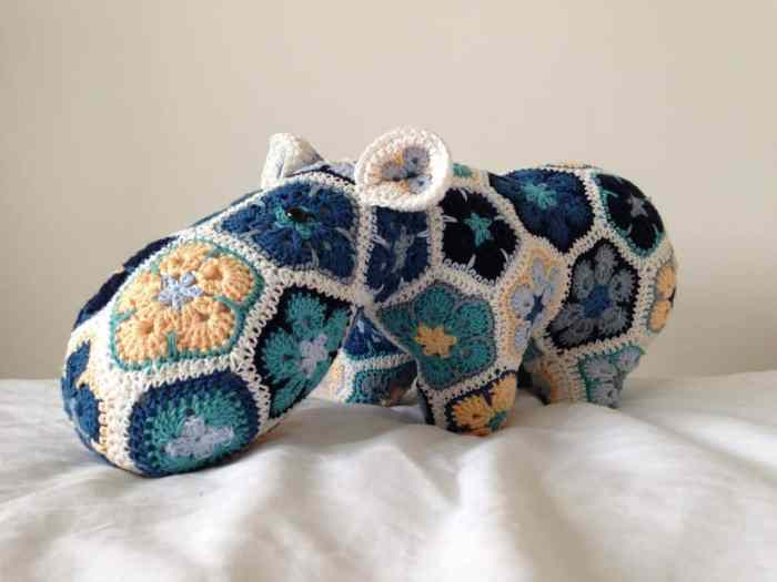 heidi bears crochet cotton hippo