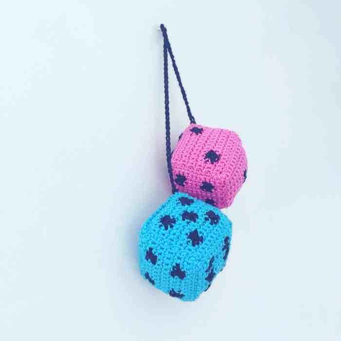 crochet hanging dice