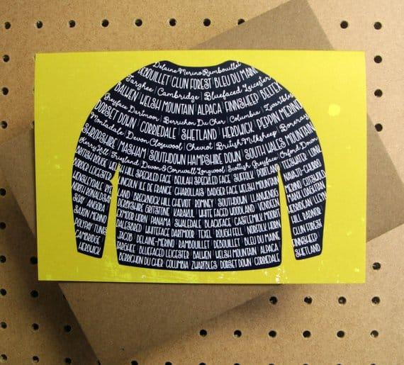 yarn fibre sweater card