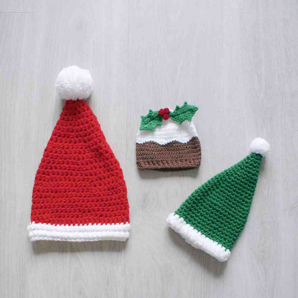 The Crochet Christmas Hat Collection is Live! - Dora Does