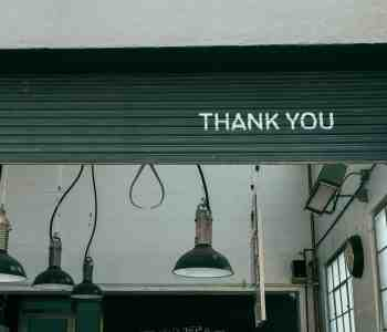 thank you on a garage door