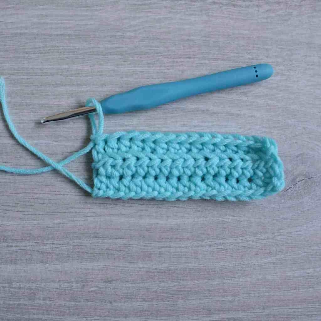 2 Rows of blo half double crochet