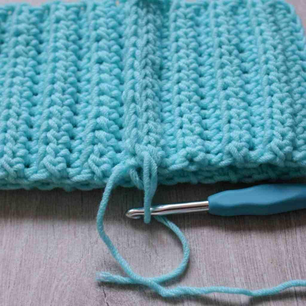 Wrong side of the crochet ss join
