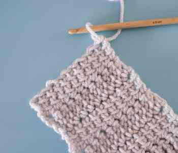 Linked treble crochet swatch