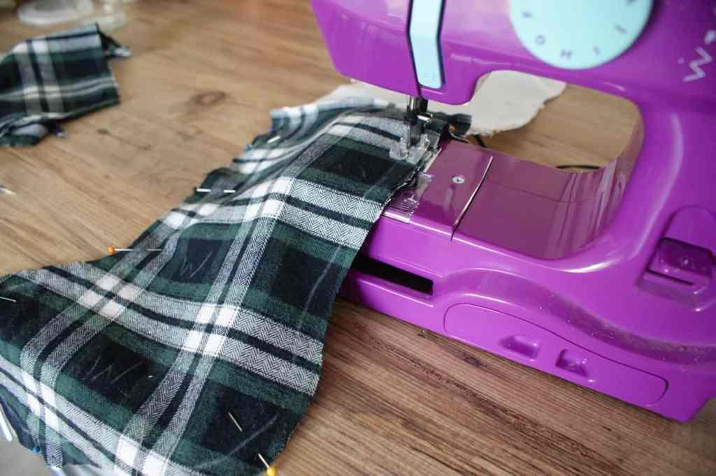 DIY upcycled stocking tutorial
