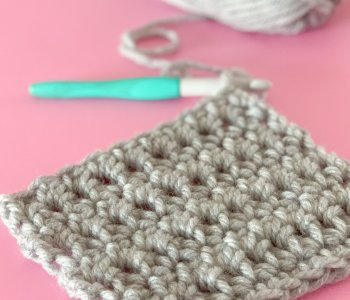 Extended single crochet swatch
