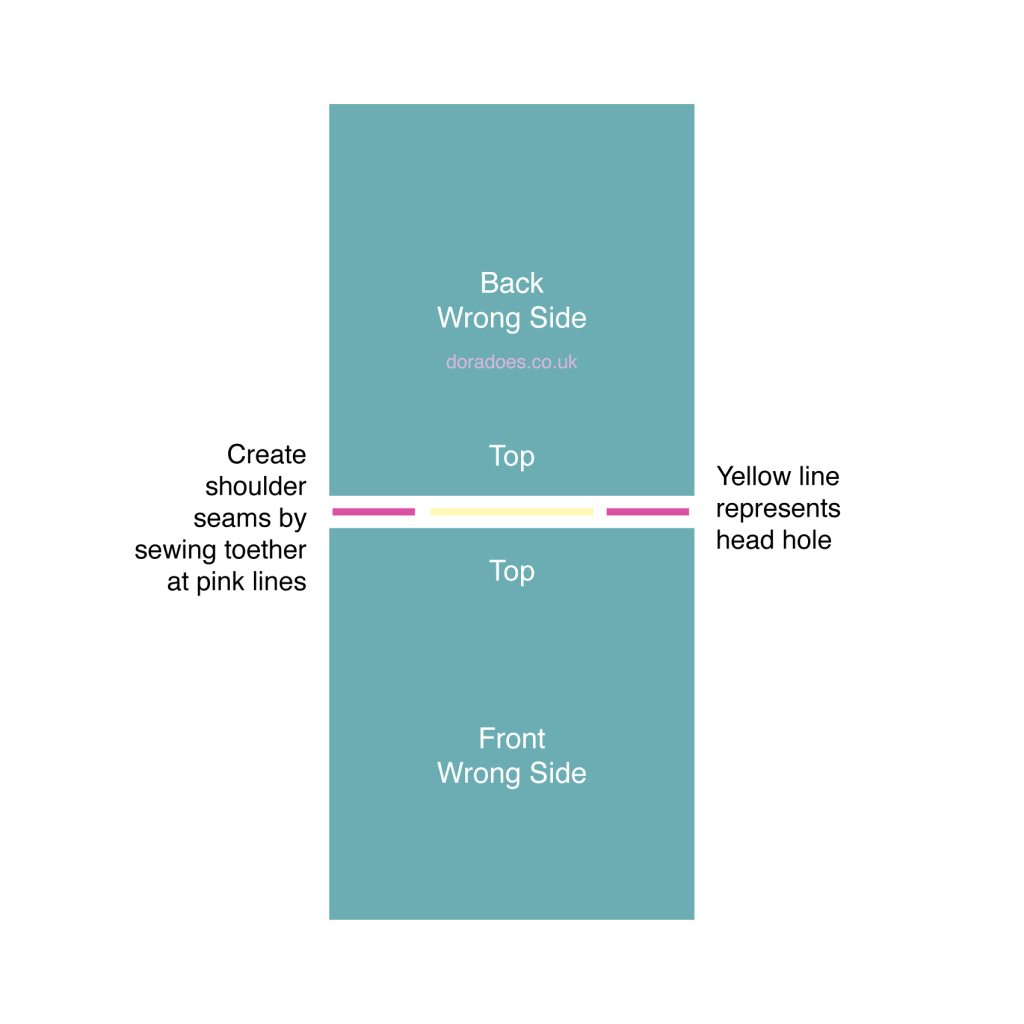 schematic for making shoulder seams