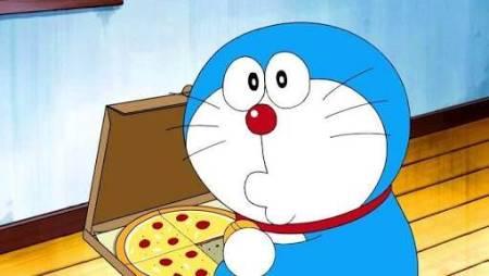 〈ピザえもん?〉アメリカ版ドラえもんはどら焼きではなくピザが好物!!