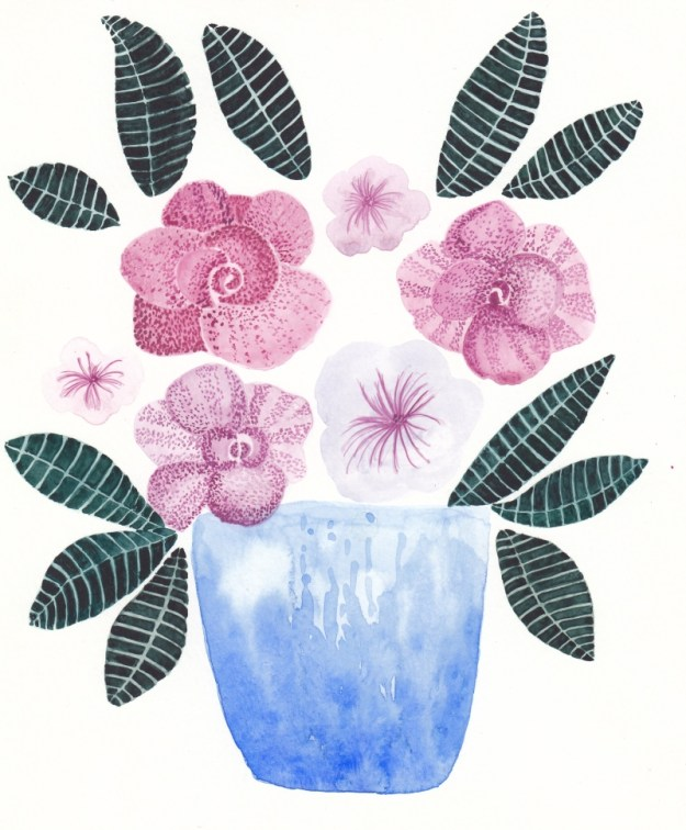 Blue vase by DORARTIS
