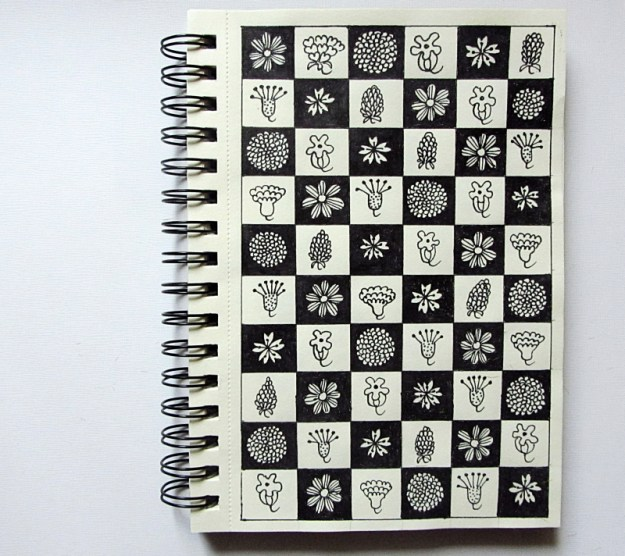 Floral checker, Sketchbook