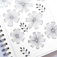 Simple flowers - Sketchbook 3/2017