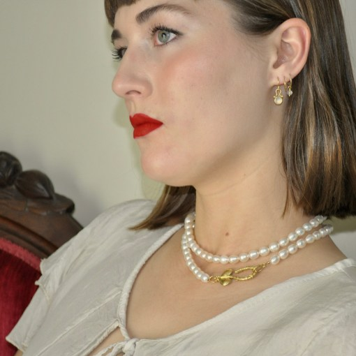 Large Petaled Pearl Clasp