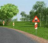 Знак дорожный 1.1. ЖД переезд со шлагбаумом