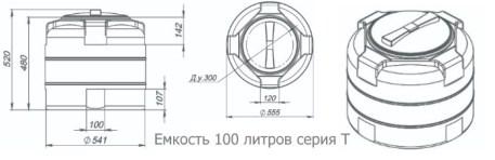 Пластиковые емкости на 100 литров габариты. Купить в С-Петербурге, Минске и по Беларуси