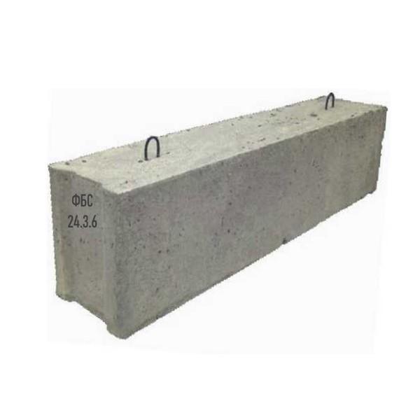 Блок стен бетонный купить в Минске фундамента ФБС 24-3-6