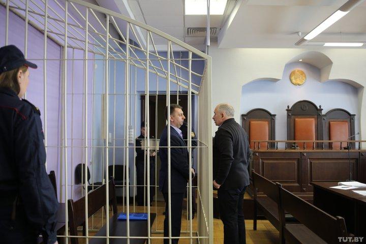 Заседание суда по делу заместителя мэра Минска. 2019 год