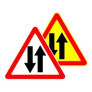 Картинка дорожный знак - двустороннее движение 1.19.1 беларусь, 1.21 россия
