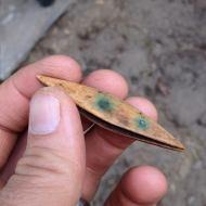Tatting shuttle used for lace-making. (Boston City Archaeology Program)