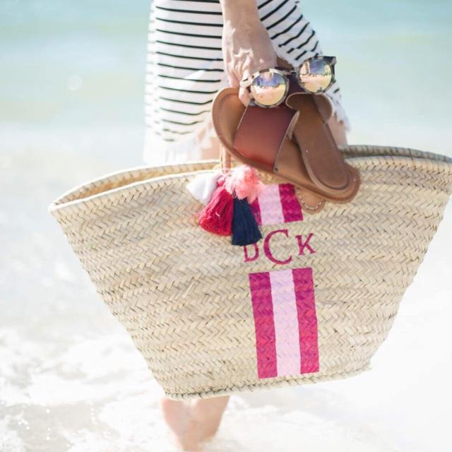 GIVEAWAY Enter to win a monogrammed straw beach tote fromhellip
