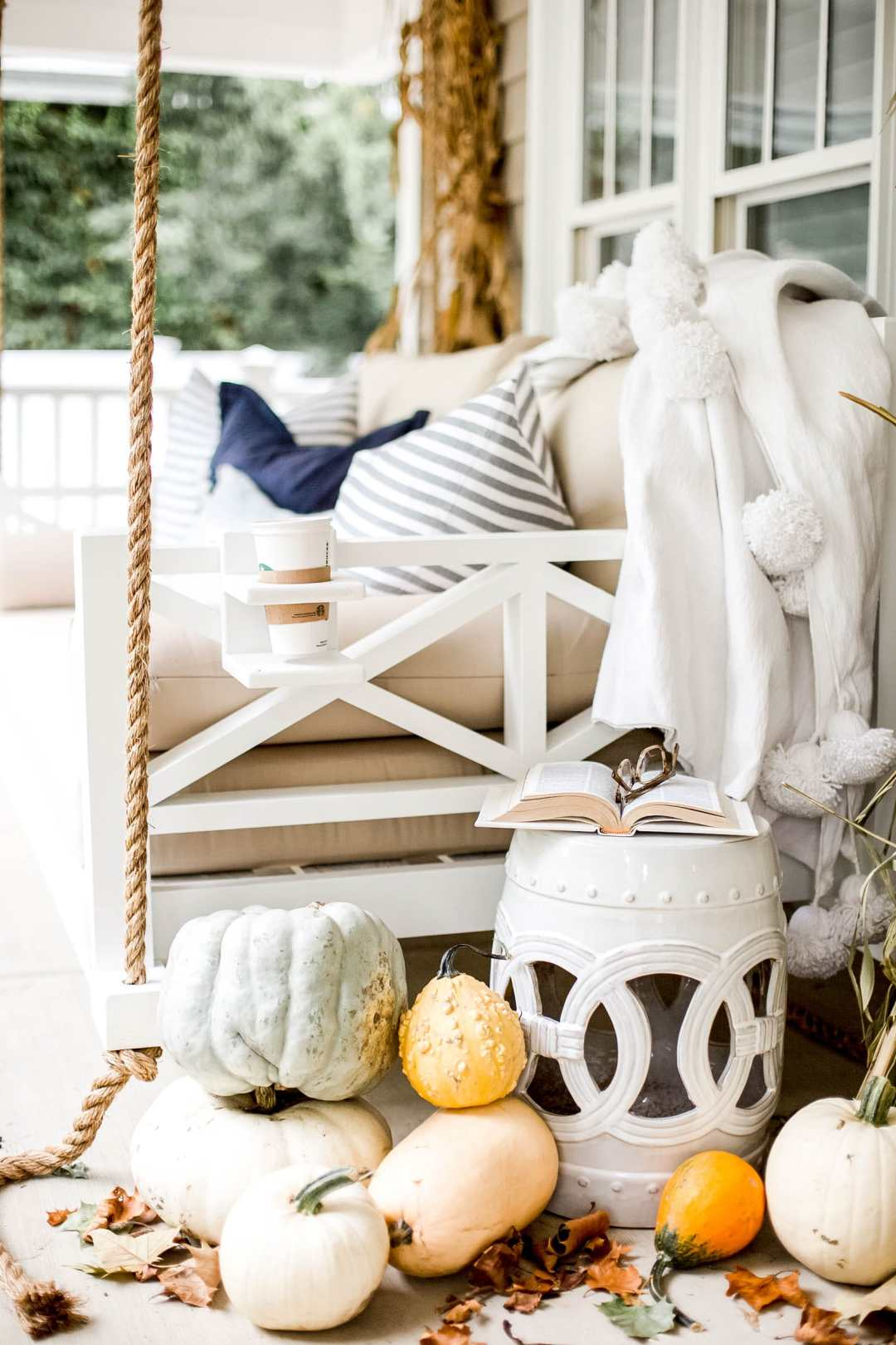 fall porch swing bed