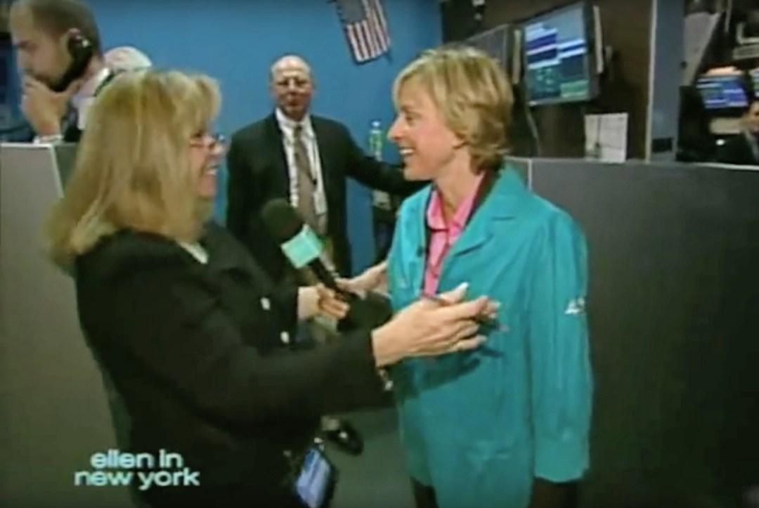 Ellen in New York - Doreen Mogavero and Ellen DeGeneres