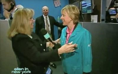Ellen DeGeneres Visits the New York Stock Exchange
