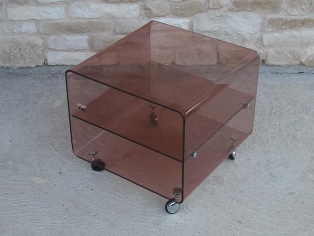 table basse en plexiglas michel dumas
