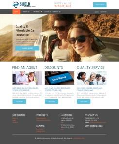 Visual Design for Insurance Company Website (Photoshop)