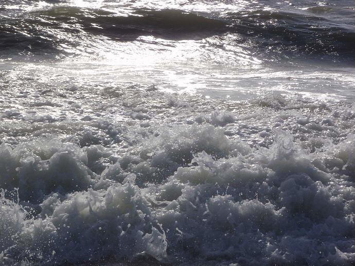Nordseewellen bei Hivide Sande in Jütland