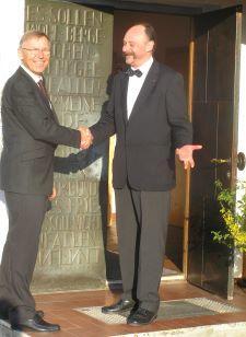 links Peter Dreier, rechts Eberhard Zeh