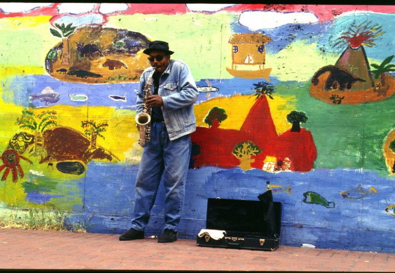 Straßenmusiker in San Franzisko